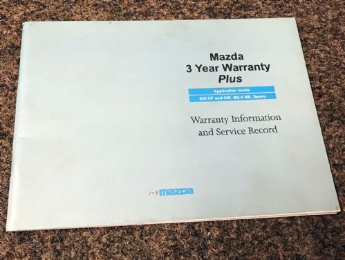 Service book, Mazda MX-5 mk2, 1998, MCAG2164, USED